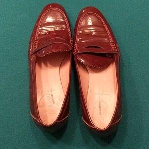 J.Crew Burgundy Patent Loafers